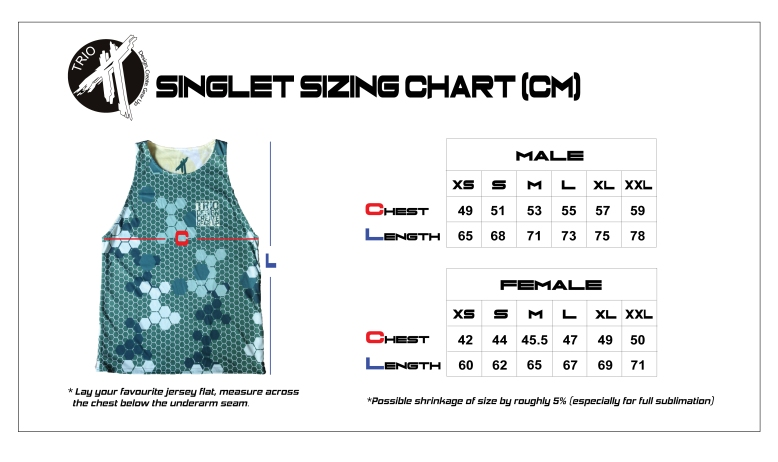 Sizing Chart Trio Ultimate